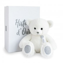 OURS BLANC 40CM - CHARMS